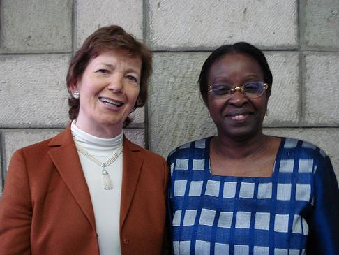 Mary Robinson and Bineta Drop