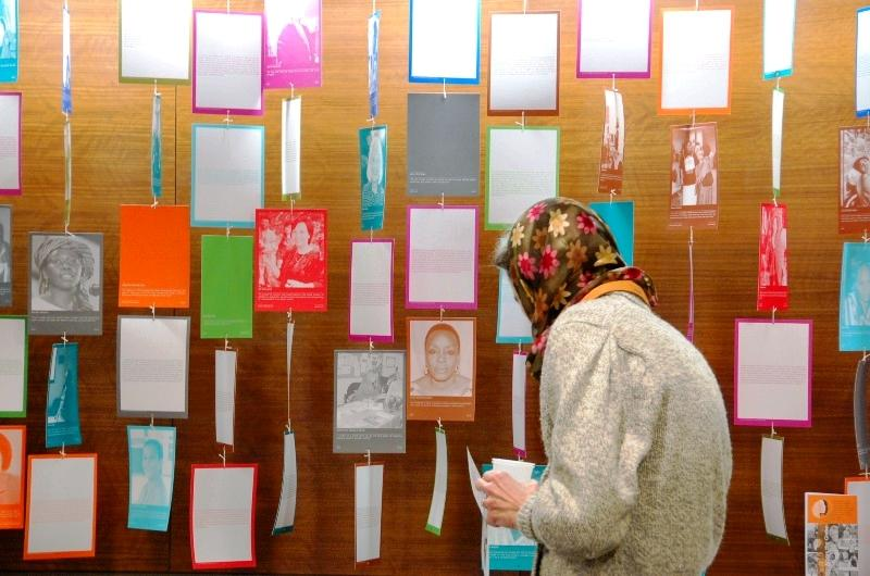 1,000 Peace Women exhibit (Photograph by Michelle Reyf)